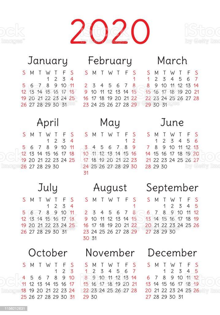 Vertical Girly February 2020 Calendar Calendar 2020 Year Vector Design Template English Vertical Pocket