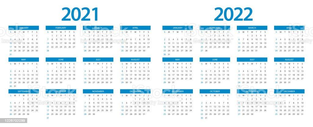 Calendrier 2021 Calendrier 2022 Conception Modèle Semaine