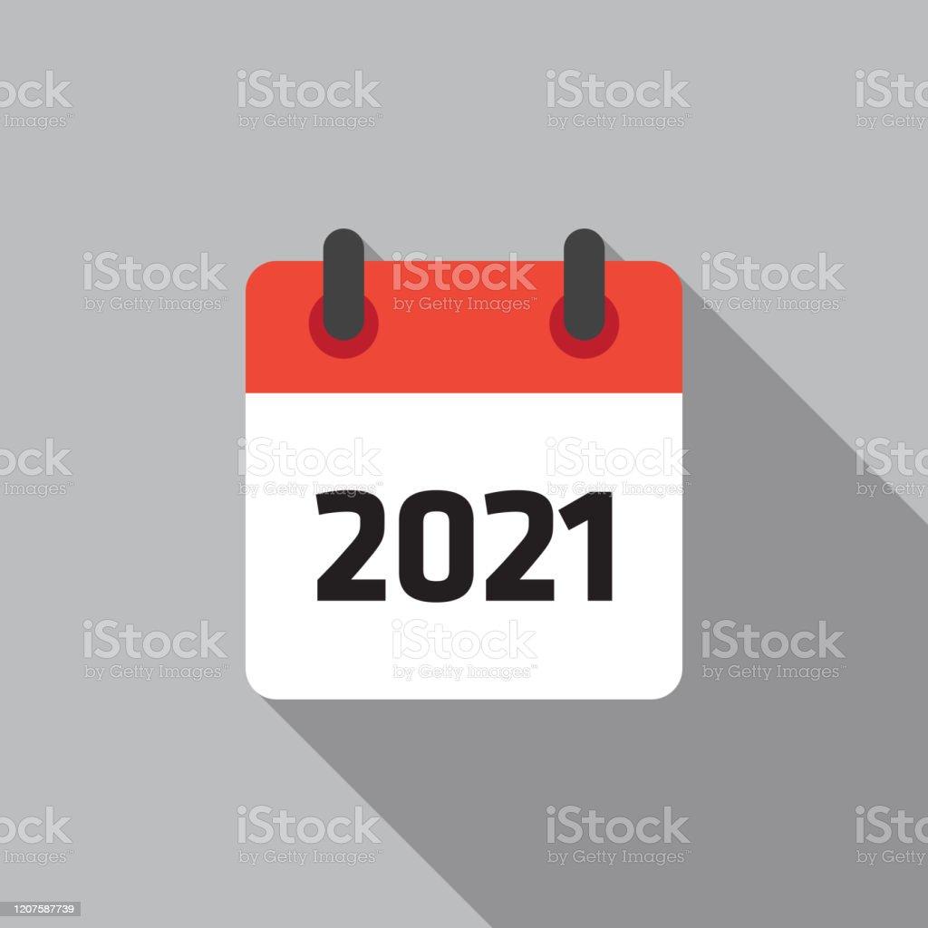 Calendrier 2021 Flat Icon Vector Illustation Vecteurs libres de