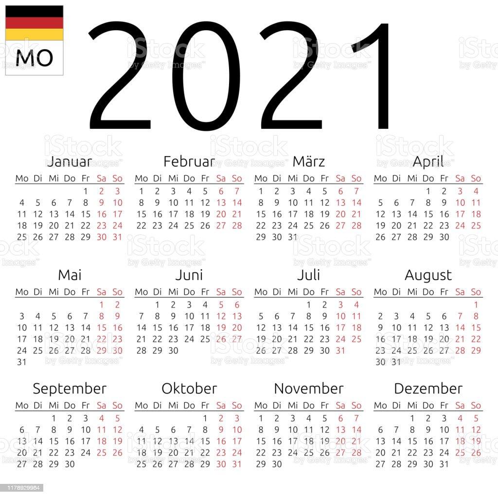 Kalender 20 Deutsch Montag Stock Vektor Art und mehr Bilder von ...