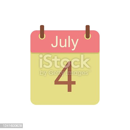 istock Calendar 2021 icon. July 7 Independence Day. 1241600628