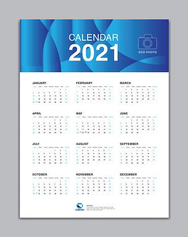 Calendrier 2021 Vectoriel Calendrier 2021 Template Wall Calendar 2021 Vector Desk Calendar