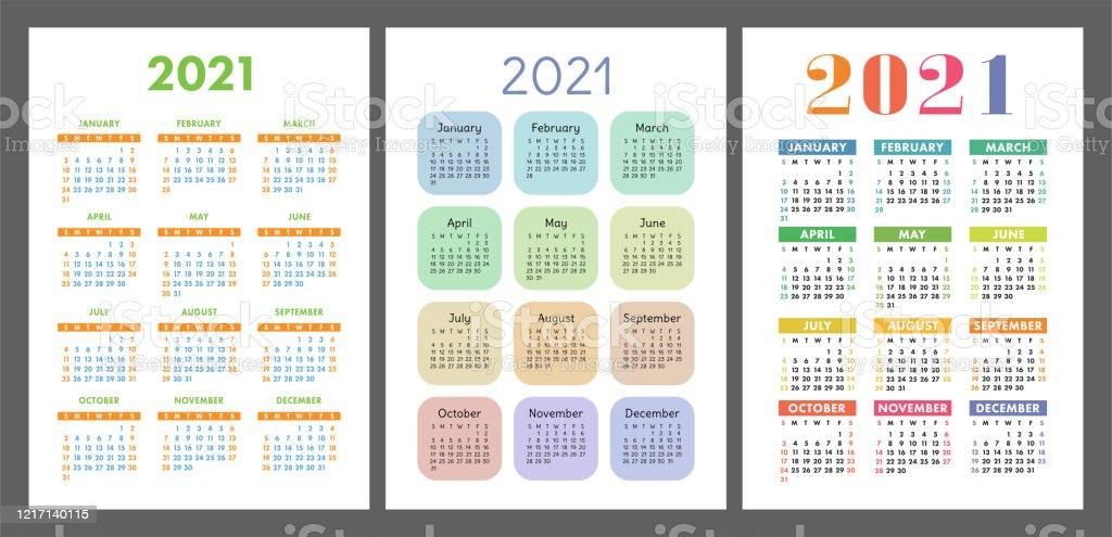 Calendrier 2021 Année Fixée Collection De Modèles De Poche Ou De