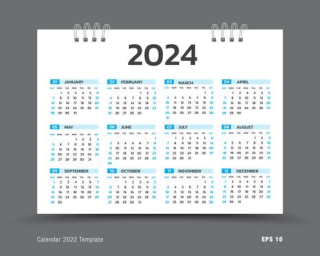 Ou Calendar 2022.Calendar 2022 Template Layout 12 Months Yearly Calendar Set In 2022 Business Brochure Flyer Print Media Advertisement Simple Design Template Vector Illustration Stock Photos