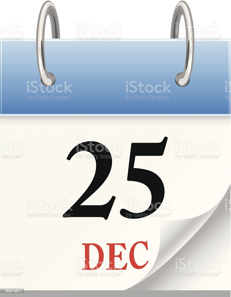 Calendar 25th December - VECTOR royalty-free calendar 25th december vector stock vector art & more images of activity