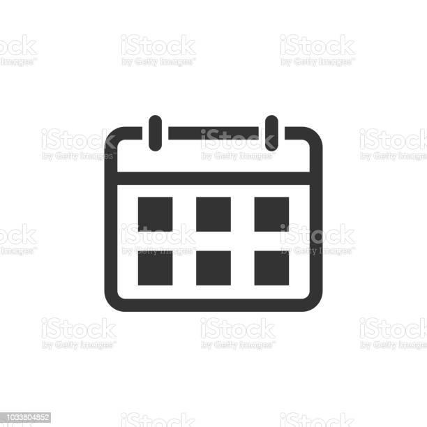 Agenda Kalenderpictogram In Vlakke Stijl Planner Vectorillustratie Op Witte Geïsoleerde Achtergrond Kalender Bedrijfsconcept Stockvectorkunst en meer beelden van Applicatie