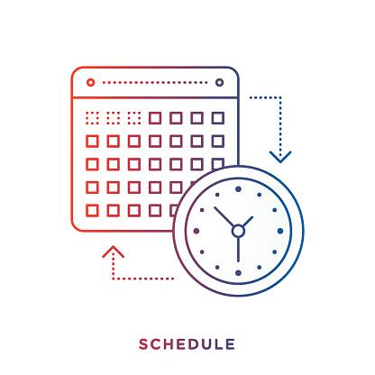 Calendar and Clock Symbol