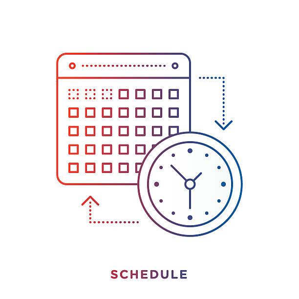 calendar and clock symbol - abstract calendar stock illustrations, clip art, cartoons, & icons