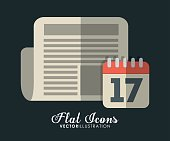 calendar and document icon. Office Instrument design. Vector gra