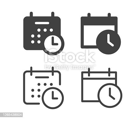 istock Calendar and Time - Illustration Icons 1265438504