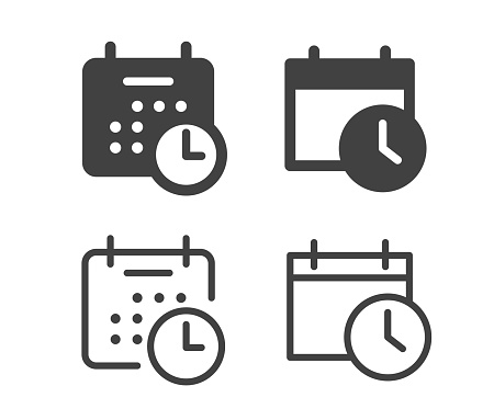 Calendar and Time - Illustration Icons