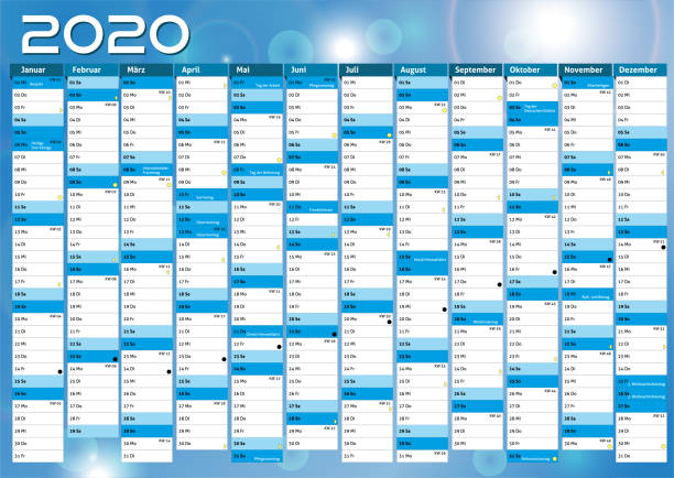 2020 calendar annual planner pocket business year vector 2020 year layout calendar annual planner pocket business almanac stock illustrations