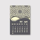 Calendar April 2017 start sunday