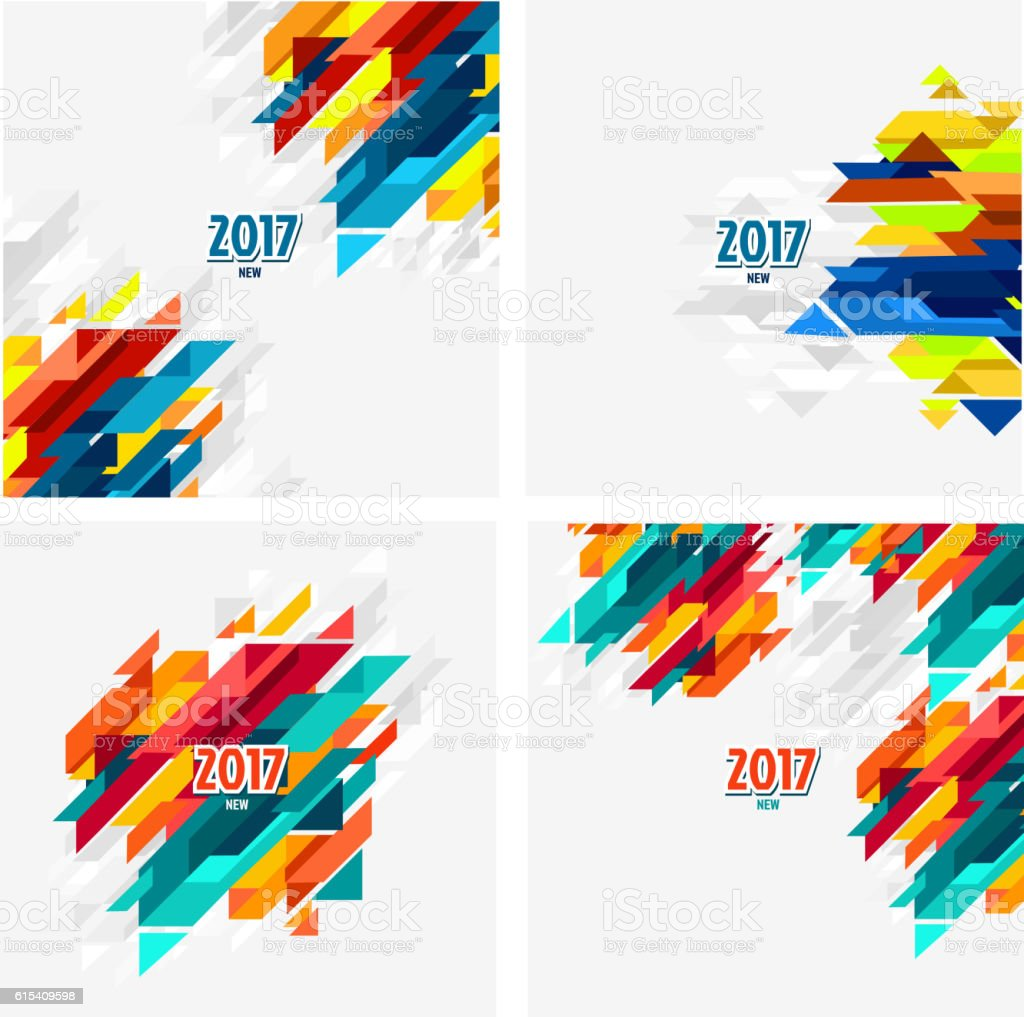 2017 Calendar background vector art illustration