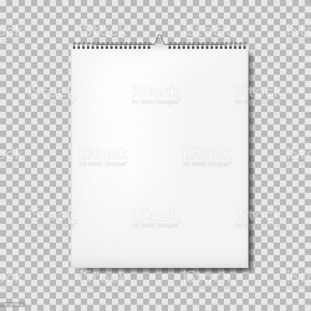 calendar binder mockup vertical isolated stock vector art more