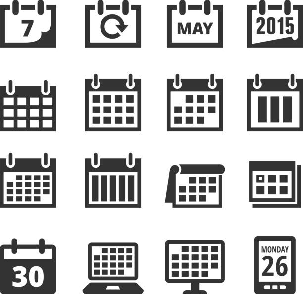 Calendar Clipart Black And White : Royalty free calendar clip art vector images