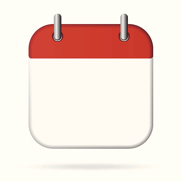 Blank Calendar Icon Vector : Page clip art vector images illustrations istock