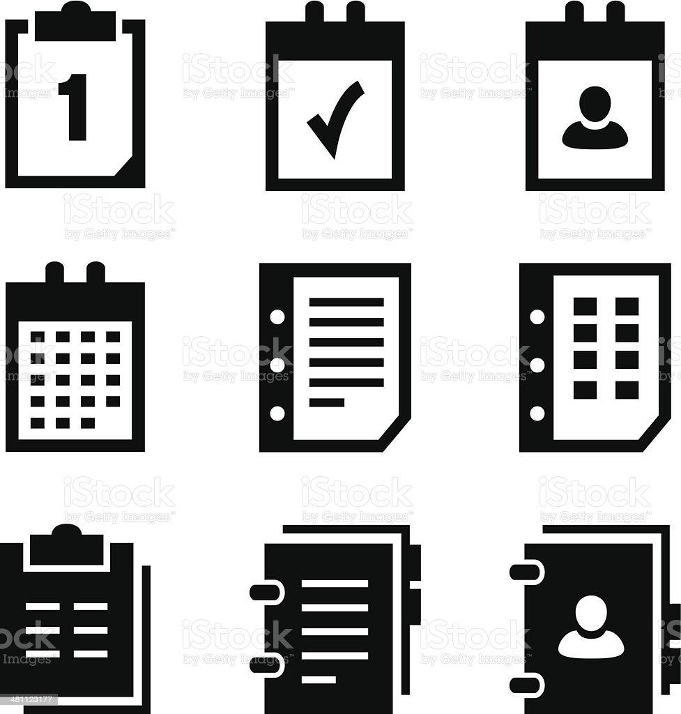 Calendario Per Appunti.Icone Di Calendario Appunti Immagini Vettoriali Stock E
