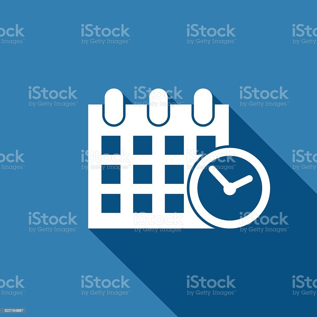 calendar & clock icon vector art illustration