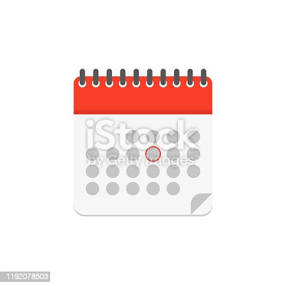 istock calendar color icon in flat style, vector 1192078503