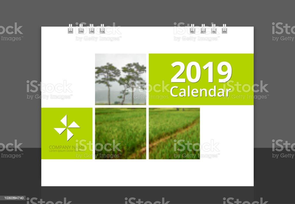 2019 calendar cover corporate design template vector stock vector