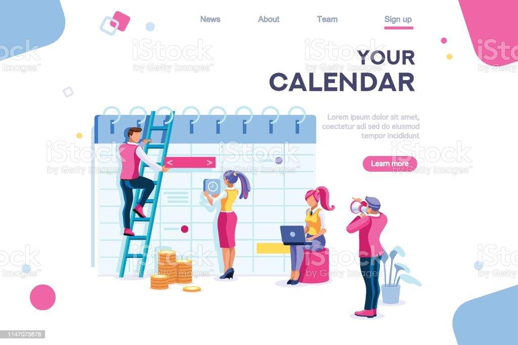 Calendar Data Graphs Database Stock Illustration - Download