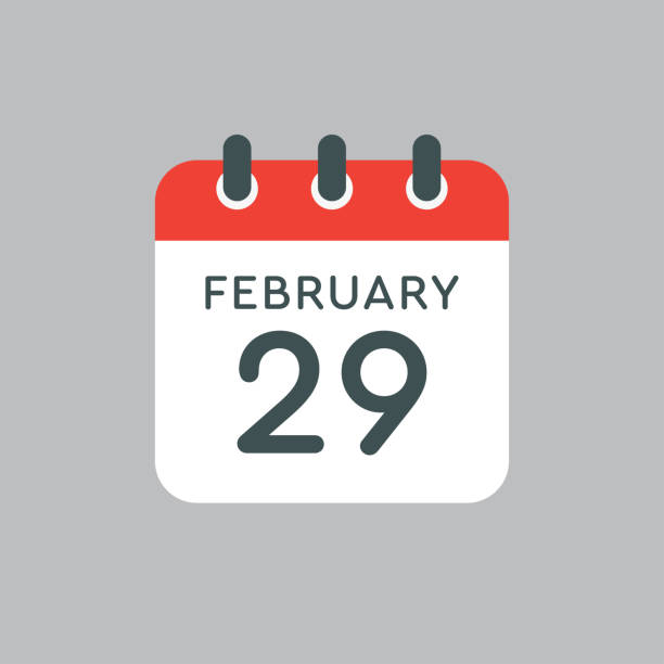 calendar day 29 february, leap or intercalary year - leap year stock illustrations