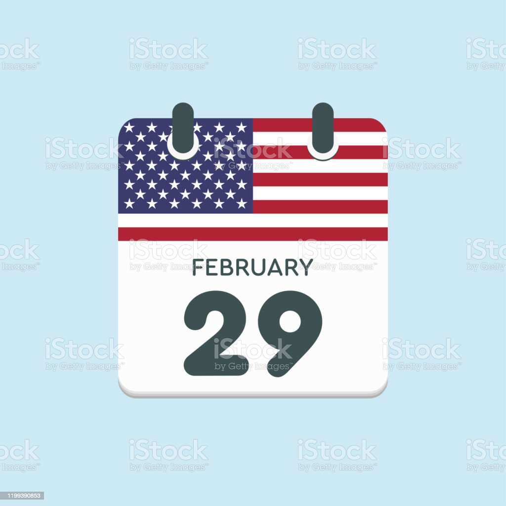 カレンダー日 2月29日うるう年フラグ米国 - うるう年のベクターアート ...