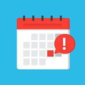 istock Calendar deadline or event reminder notification 1195104023