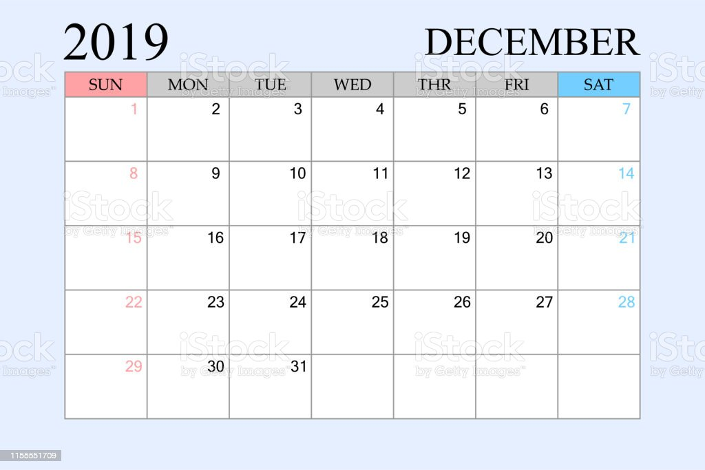 Calendrier Planning 2019.2019 Calendrier Decembre Planning Planner Organisateur