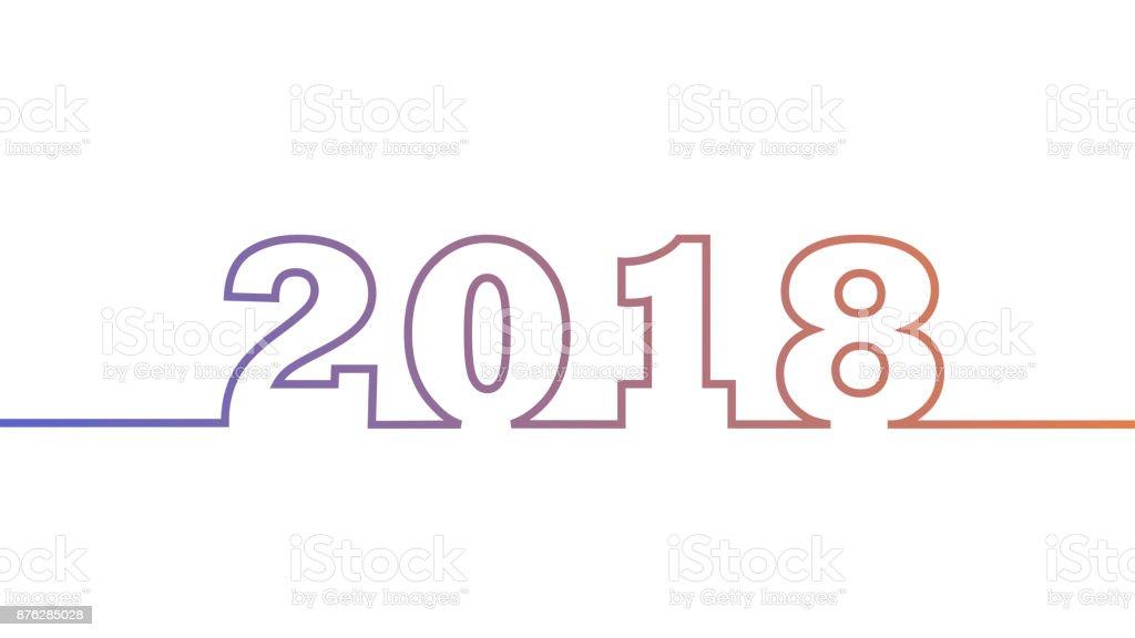 Ilustración de 2018 Diseño De Calendario O Un Elemento De Diseño De ...