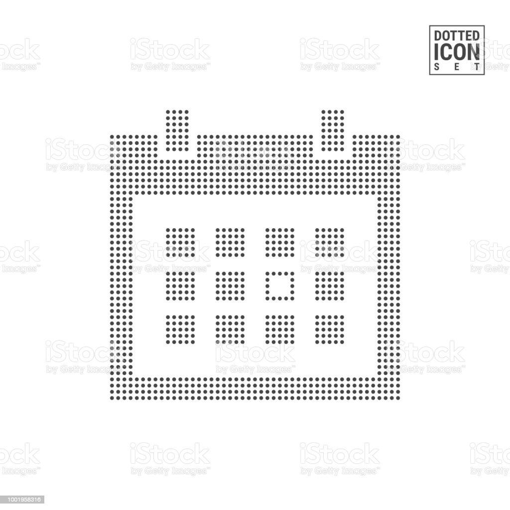 Ilustración de Calendario Punto Patrón Icono Calendario Puntos Icono ...