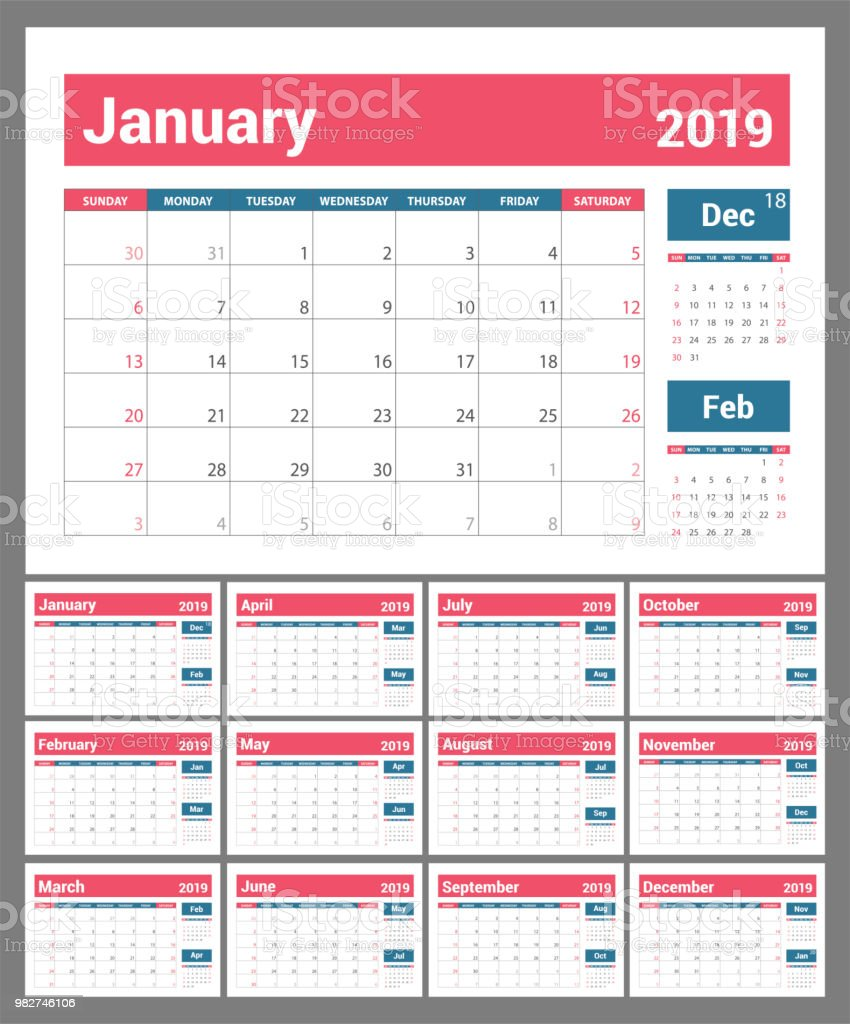 olor vector template business planning new year planner