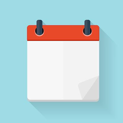 Calendar Flat Daily Icon Template. Vector Illustration Emblem. E