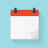 Calendar Flat Daily Icon Template. Vector Illustration Emblem. E