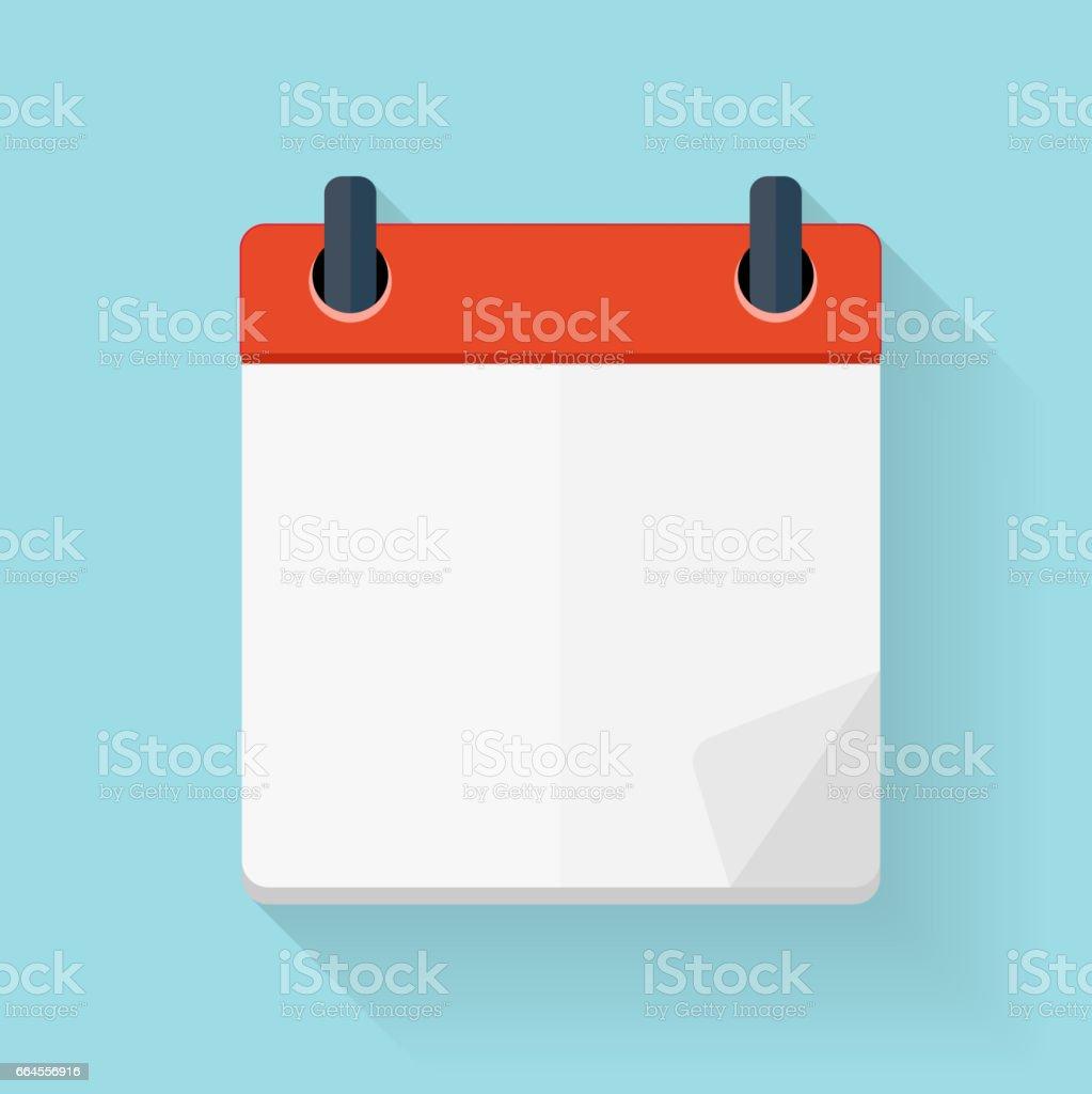 Calendar Flat Daily Icon Template. Vector Illustration Emblem. E vector art illustration