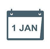 Calendar flat icon isolated on white background. vector illustration icon