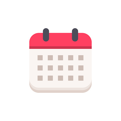Calendar Flat Icon. Pixel Perfect. For Mobile and Web.