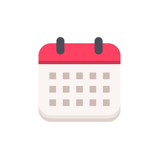 Calendar Flat Icon. Pixel Perfect. For Mobile and Web. Calendar Flat Icon. calendar stock illustrations