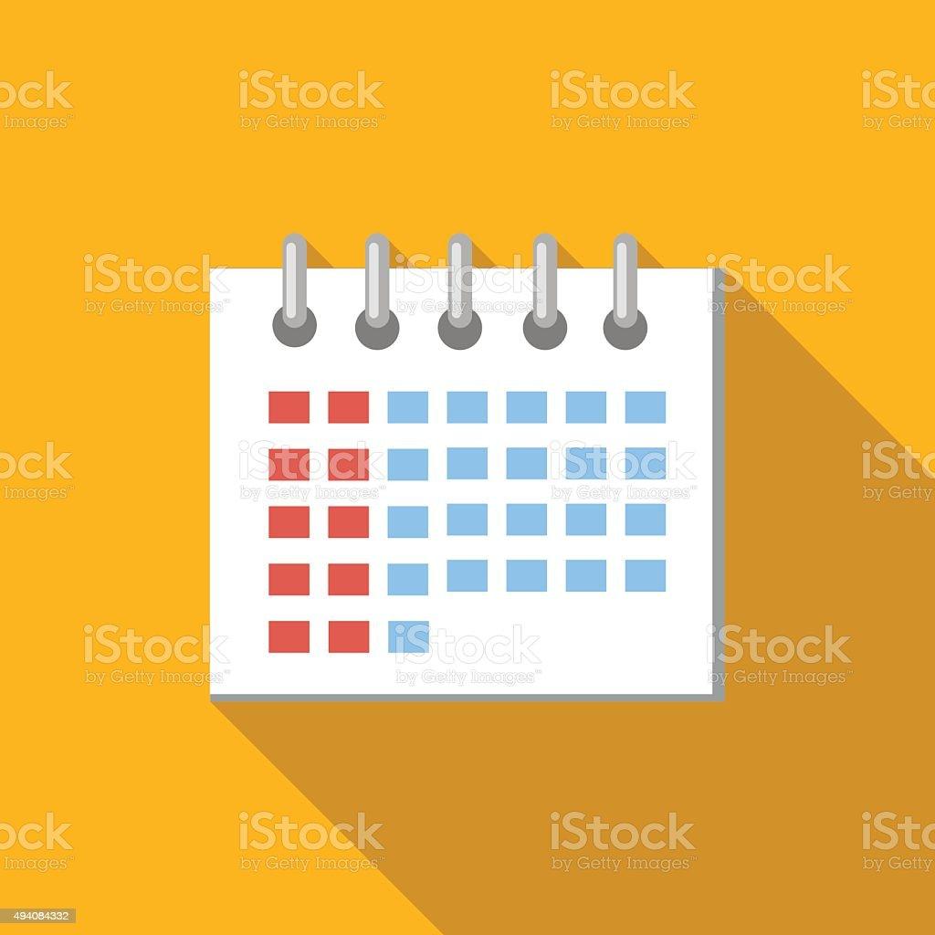Plana ícone calendário - ilustração de arte em vetor