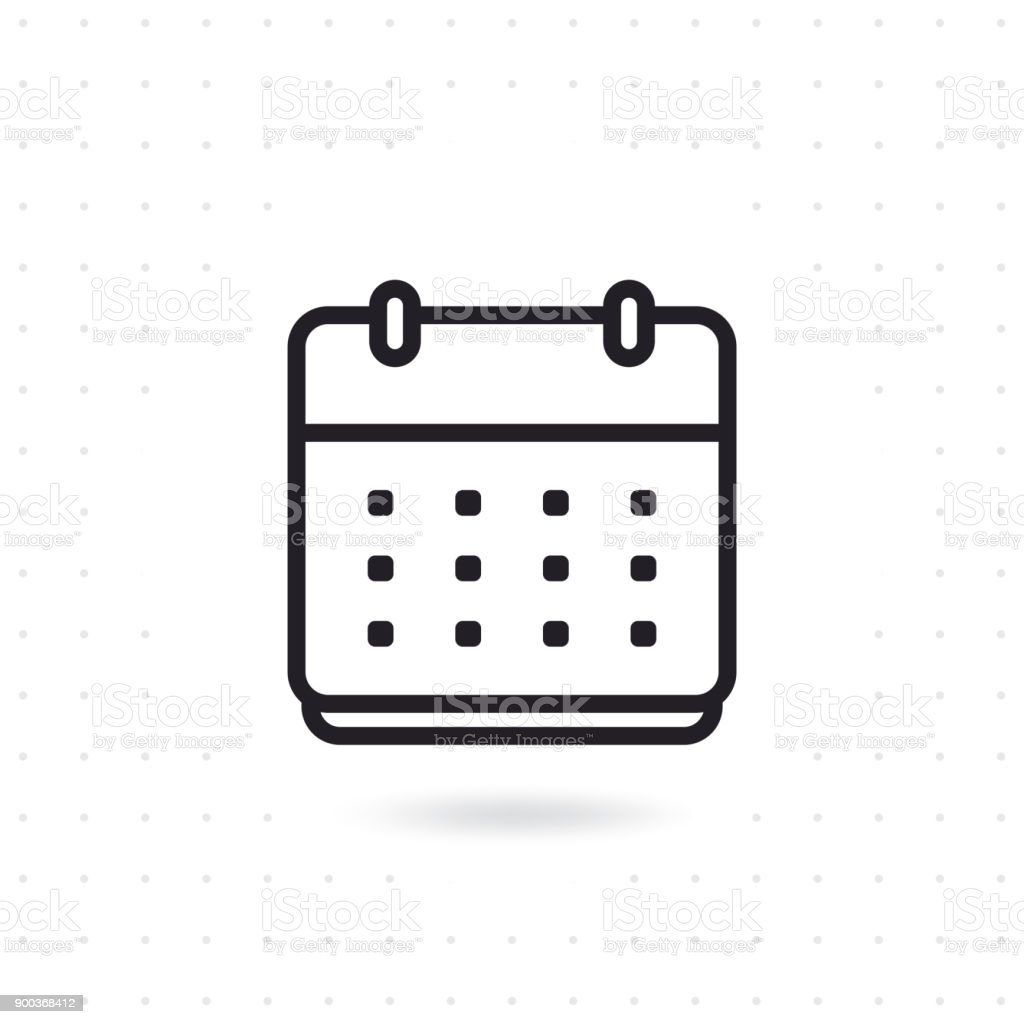Flache Vektor Kalendersymbol – Vektorgrafik