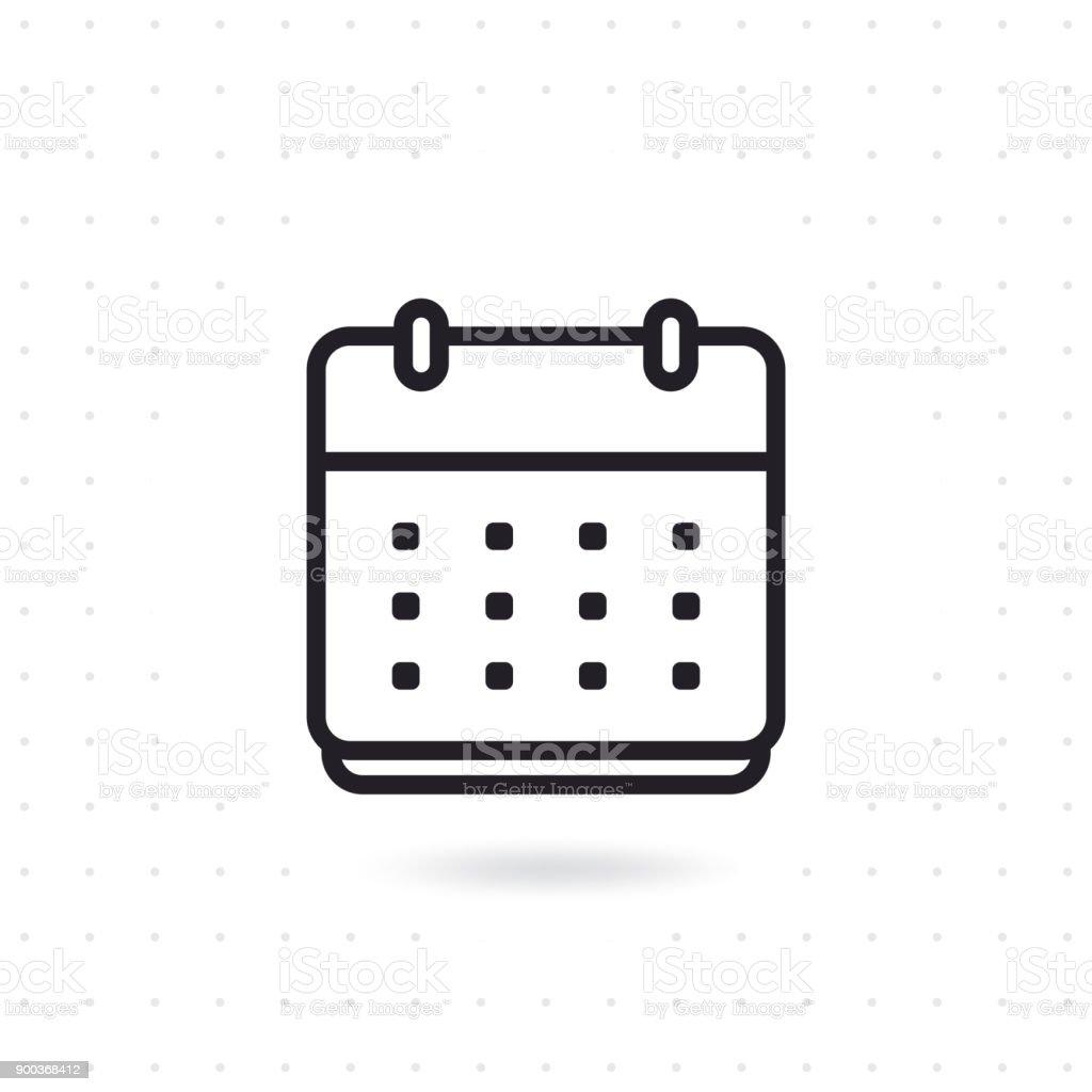 Calendar flat vector icon vector art illustration