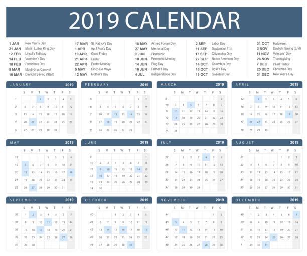 Calendario 2019 Illustrator.Best Calendario Illustrations Royalty Free Vector Graphics