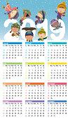 Vector Calendar for 2019 year