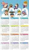 Vector Calendar for 2020 year