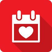 istock Calendar Heart Icon Silhouette 1200009114