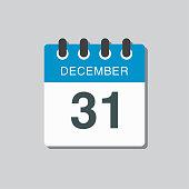 istock Calendar icon day 31 December, template icon day 1270527272