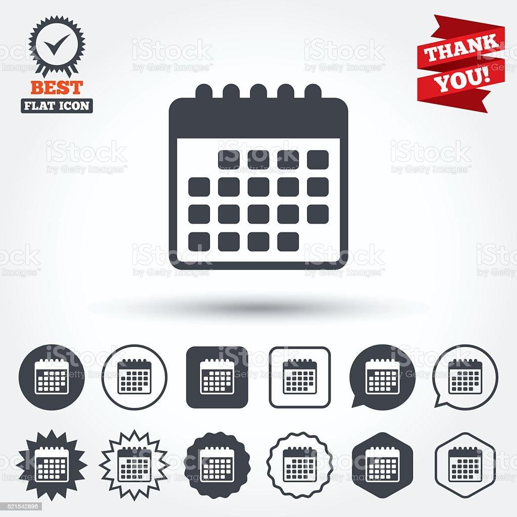 Simbolo Calendario.Icona Calendario Promemoria Simbolo Di Evento Immagini
