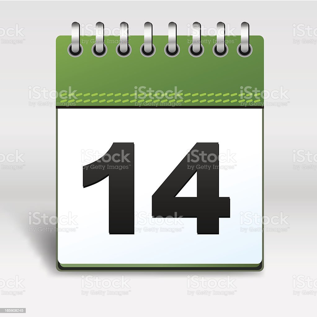 Calendar Icon green royalty-free stock vector art