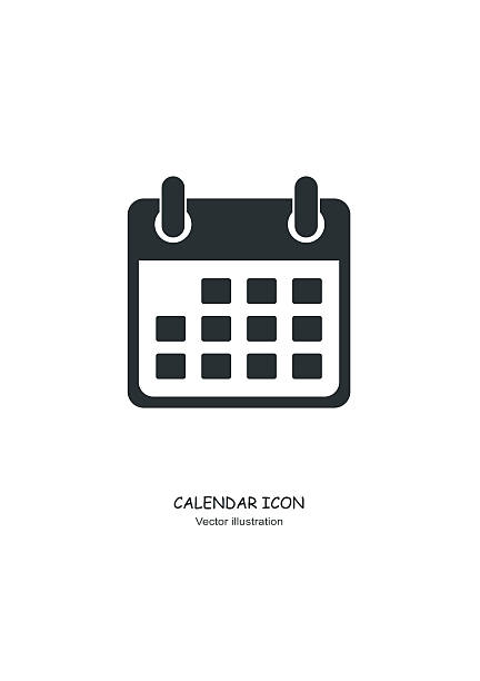 calendar icon in flat design style. vector - abstract calendar stock illustrations, clip art, cartoons, & icons